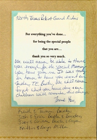 Letters of appreciation from the chip foster mission posted 09142013 spiritdancerdesigns Gallery